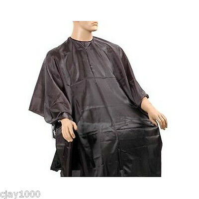 Black Hairdressing Salon Cape Quality Barber Gown Velco Fasteners Hair