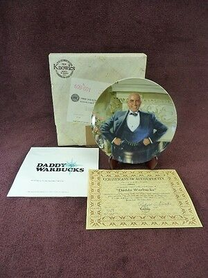 Knowles Collectors Plate By Chambers Annie, Daddy Warbucks (428)