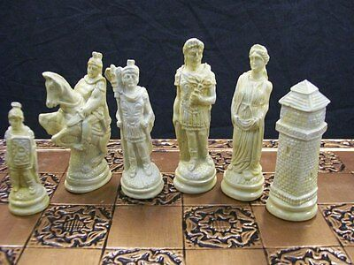 The Roman Chess set - marble effect finish
