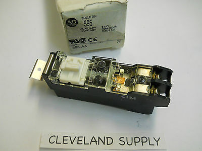 Allen Bradley 595-Aa Auxiliary Contact 2No Size 0-5 Series C New In Box