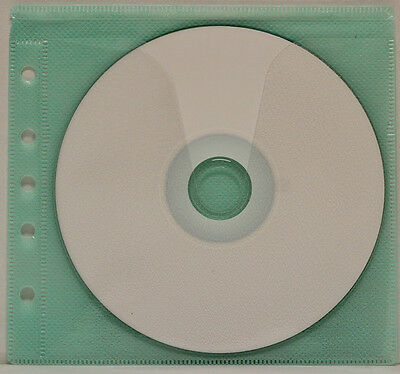 200 Generic CD/DVD Double-sided Refill Plastic Sleeve Green  (5H)