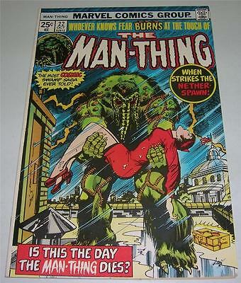 MAN-THING #22 (Marvel Comics 1975) LAST ISSUE! HOWARD THE DUCK cameo (VF)