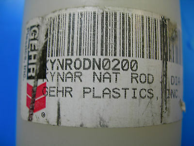 """PVDF, KYNAR Natural Rod  2"""" Diameter, 2 inches Long,  Cost includes shipping!"""