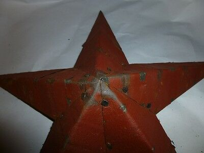 Rustic Genuine Amish Quality Primitive 64 inch Barn Star USA Made Old Barn Red