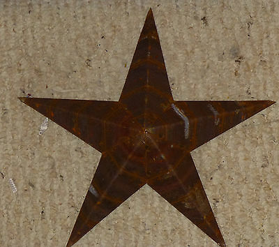 Rustic Genuine Amish Quality Primitive 64 INCH Barn Star USA Made NATURAL RUST