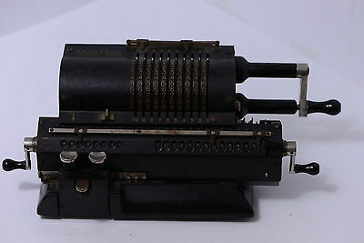 Antique Large Swedish Mechanical Pin-Wheel Calculator Original-Odhner Model 27