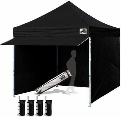 10x10 Outdoor Patio Gazebo Shelter Ez Pop Up Instant Canopy Tent +4 Side Walls