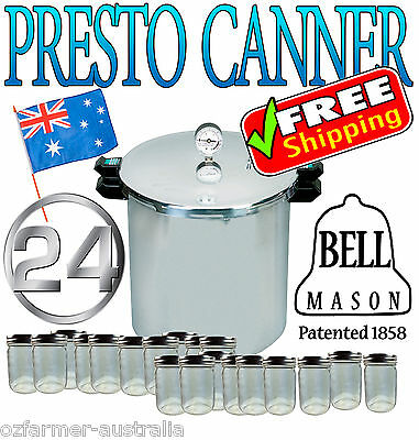 Presto Pressure Canner  Includes 24 Ball Mason Jars! & Pressure Regulator! ★★★★★