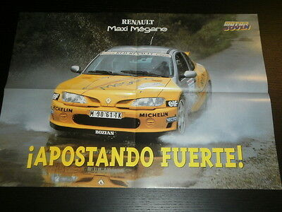 Renault Maxi Megane Rallye Rally Race - Poster Affiche Spanish Magazine - 2891