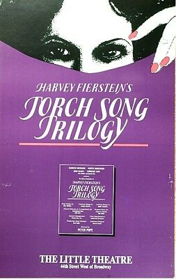 Torch Song Trilogy Broadway Window Card