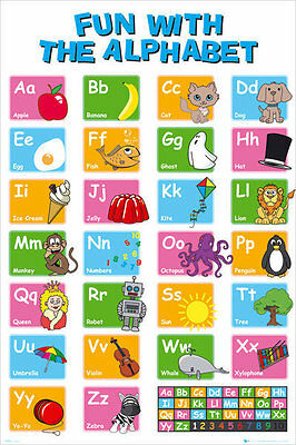 ALPHABET LEARN MY ABC POSTER (61x91cm) EDUCATIONAL CHART PICTURE PRINT NEW ART