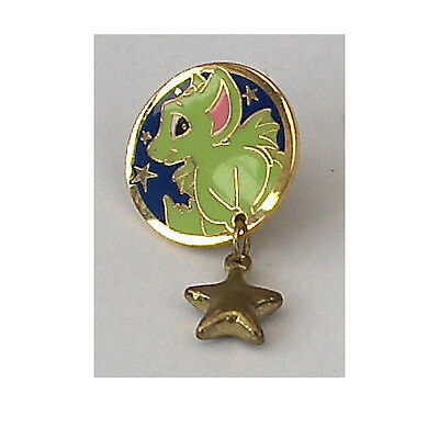 Pocket Dragon-Reach For The Stars-Pin Badge-Rare-New