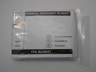 Steroplast Emergency Foil Blanket. 140cm x 204cm. First Aid Kit Essential