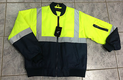 Hi Vis Safety Work Jacket with 3M Tape (SizeS-4XL) Brand New