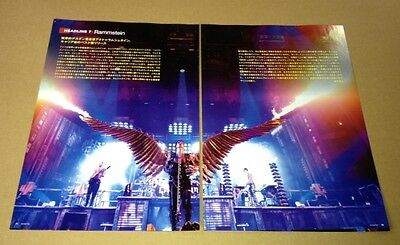 2012 Rammstein 2pg 1 photo JAPAN magazine article / pinup / clippings cuttings