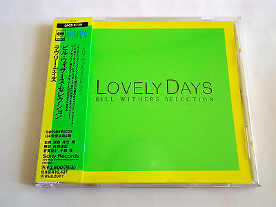 BILL WITHERS Selection Lovely Day JAPAN CD 1993 w/OBI SRCS-6739