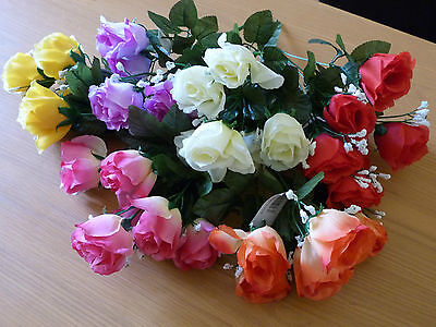 Open Rose And Gypsophila Bush Ideal Ready Arrangement For Small Vase
