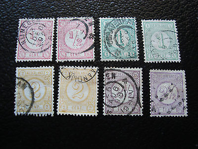 PAYS-BAS - timbre - Yvert et Tellier n° 30 a 33a obl (A2) stamp netherlands