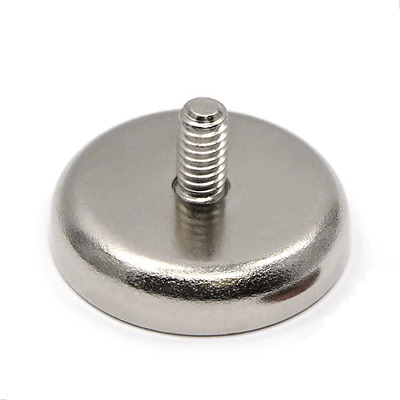 5x Male Threaded Pot Magnet Holder 20mm / 6kg | Magnetic Door Drawer Gate Latch