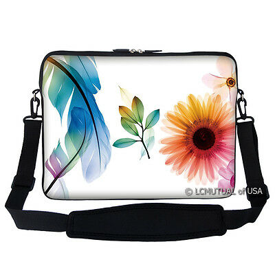 "15.6/"" Laptop Computer Sleeve Case Bag w Hidden Handle /& Shoulder Strap 2706"