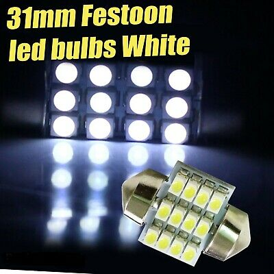 31mm 9 LED Festoon Light Bulb White Car Interior Roof Globe Glove 32mm 30mm