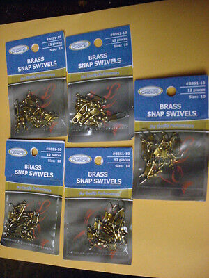 SIZE 12 TOURNAMENT CHOICE BRASS SNAP SWIVELS  #BSS1-12 60 TOTAL FIVE PACKS OF 12