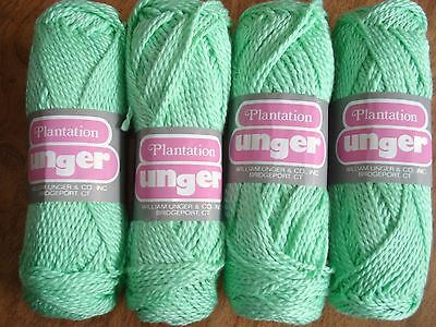 4 Skeins of 100% cotton Plantation yarn by Unger mint green