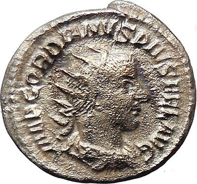 Gordian III 243AD Silver  Ancient Roman Coin Goddess of forethought  i30457