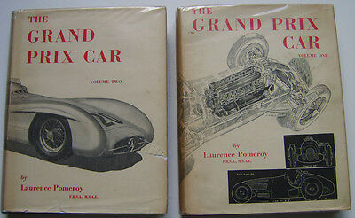 Grand Prix Car Volume 1 & 2 by Laurence Pomeroy 1906-53 with dust wrappers