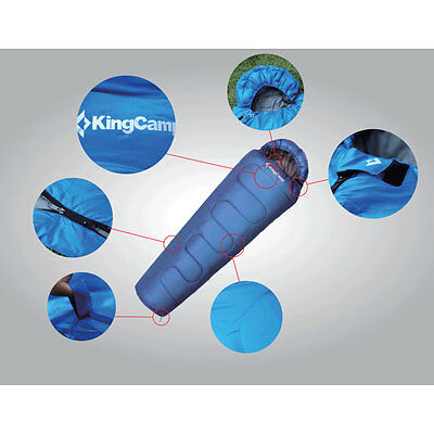 KingCamp Winter Camping Hiking Mummy Sleeping Bag 3 - 4 Season Blue New