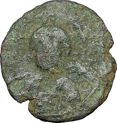 JESUS CHRIST Class E Anonymous Ancient 1059AD Byzantine Follis Coin   i23854