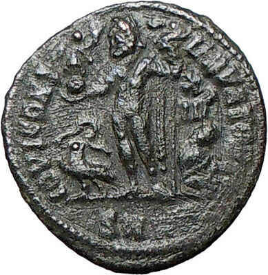 CRISPUS Constantine the Great son 317AD Ancient Roman Coin Nude JUPITER i24695