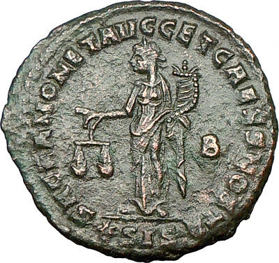 CONSTANTIUS I Constantine I father Ancient Roman Coin Funds Protectress i18737