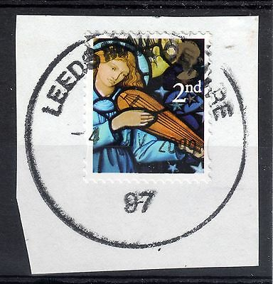 GB = Unusual Cancel on modern stamp - `LEEDS MAIL CENTRE / 97` 2009 Rubber (B1a)