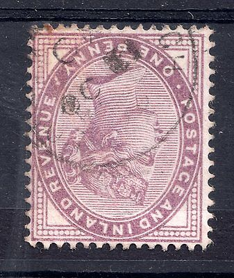 GB = Town/Village cancel. On QV stamp, `???` Single Ring. (B1a)