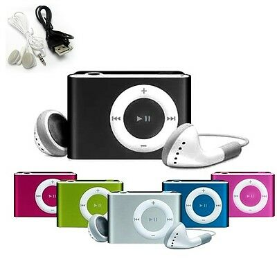 MINI LETTORE MP3 CON CAVO USB E CUFFIE CLIP FINO A 8 GB SD MUSICA JACK 3.5mm