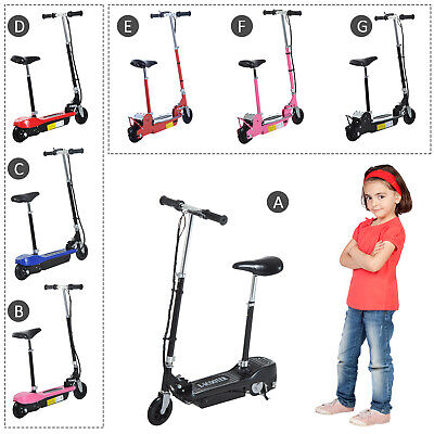 Kids Electric E Scooter Ride on Battery Children Toy Adjustable Seat 9 Type