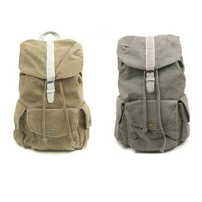 New Man Women's Canvas Backpack Shool Bag Travel Outdoor Multi Bag 3 Colors