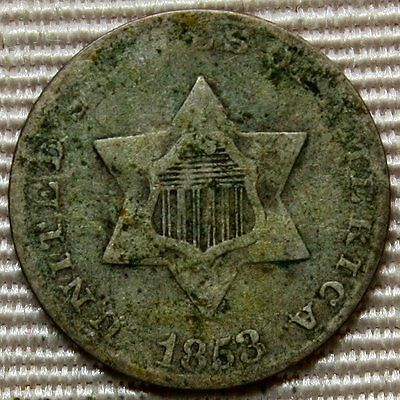 1853 Three Cent Silver * Cool Coin