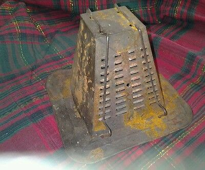 Vintage Antique Tin Stove Top Toaster rare two Slice