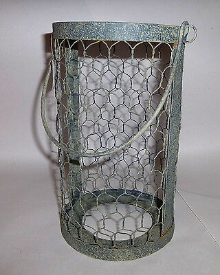 Chicken Wire Gry Hanging Caddy for Patio Reception Light Decoration Qt Mason Jar