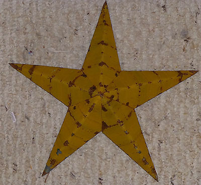 USA Made Great Rustic Genuine Amish Quality Primitive 22 INCH Barn Star MUSTARD