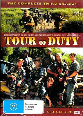TOUR OF DUTY - The Complete Third Season 3 (DVD, 2005, 5-Disc Set) - BRAND NEW
