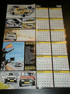 Renault 5 Turbo Copa Cup Calendar - Poster Affiche Spanish Magazine - 2861