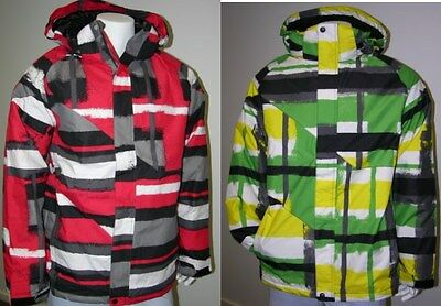 New RIDE Mens Snowboard Ski Snow Jacket #10 -Green or Red Pattern -Various Sizes