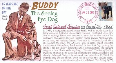 """COVERSCAPE computer designed """"Buddy"""" the Seeing Eye Dog 85th year event cover"""