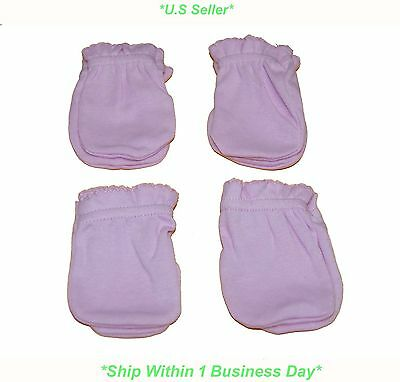 4 Pairs Cotton Newborn Baby/infant Guard against Grasping Gloves/ Mittens-New!