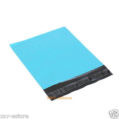 "50 Blue Poly Mailers Envelopes Mailing Bags 4.3"" x 7""_110 x 180+40mm"