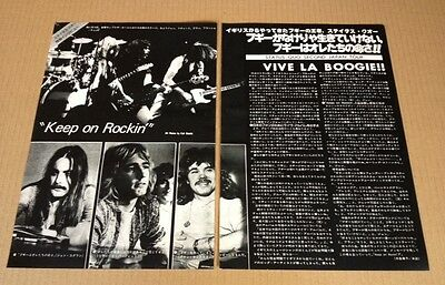 1977 Status Quo in JAPAN 2pg 4 photo mag article / clippings cuttings