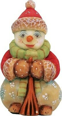 G DeBrekht Derevo Collection Snowman Ornament 65183-1